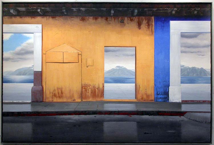 "Despues de la lluvia, 2004, oil on canvas, 48 x 72"". Courtesy of the artist."