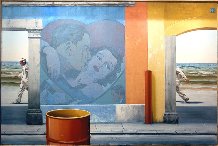 "Searching for the Romantic, 2006, oil on canvas, 48 x 72"". Courtesy of the artist."