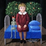 1.From the Little Girl's Diary, 2006, 12x12, oil on board