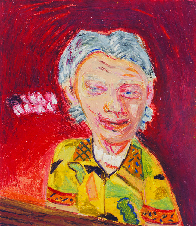 Piano Man. 1982. Oil pastel on paper, 7 x 6 in.