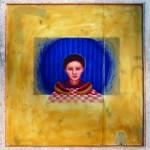 Geenie's Weenies. 1983. Oil pastel, wax, glass, paper, wood, 20 x 20 x 2 in.