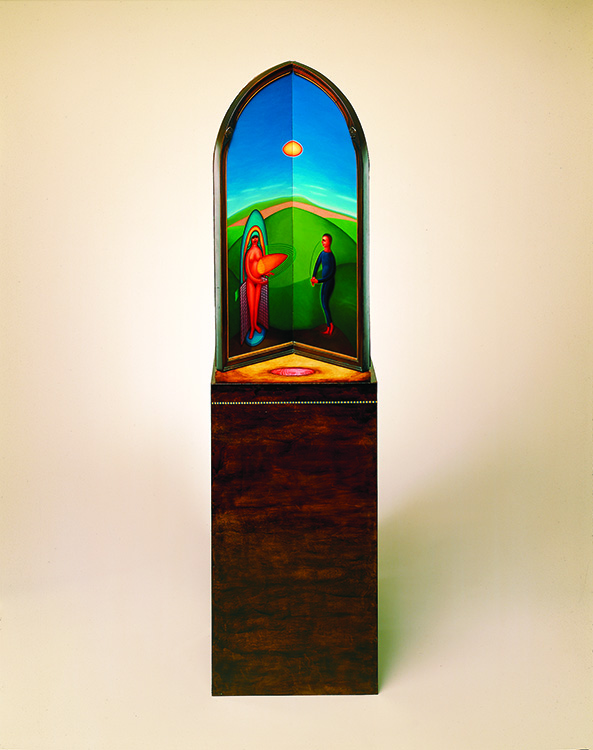 Summer. 1986. Oil on wood, 67 x 18 x 14 in.