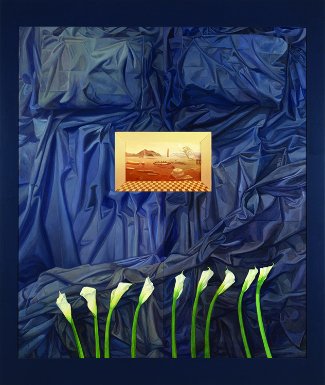 La Santa E Gloriosa Carne. 1994. Oil on wood, 84 x 72 x 4 in. Courtesy of the Detroit Institute of Arts.