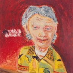 "Piano Man (a page from the 'Memory Portrait Book""), 1982,  Oil pastel on paper,  7 x 6 inches. Photography by Tim Thayer. Image courtesy of the artist."