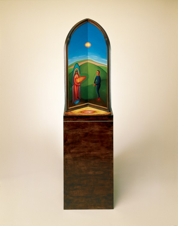 Summer, 1986 oil on wood  67 x 18 x 14 inches. Photography by Tim Thayer. Image courtesy of the artist.