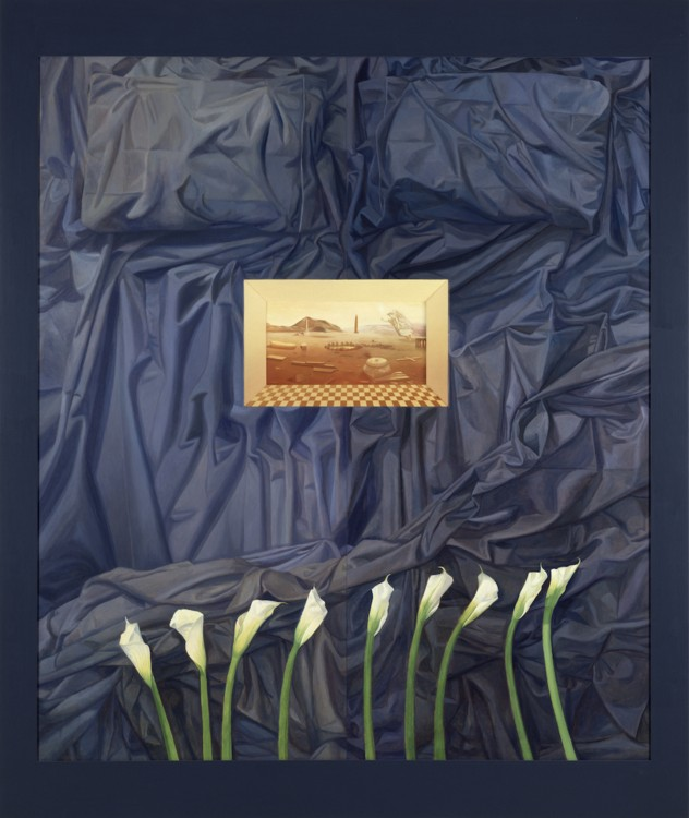 La Santa E Gloriosa Carne, 1994  oil on wood  84 x 72 x 4 inches. Photo credit: The Detroit Institute of Arts.