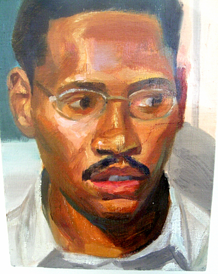"Anthony, 2004, oil on canvas, 11 x 8""."