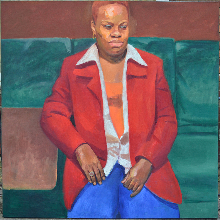 "Tracey, 2010, oil on canvas, 60 x 60""."