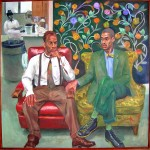 "James and Kelly, 1996, oil on canvas, 72 x 72""."