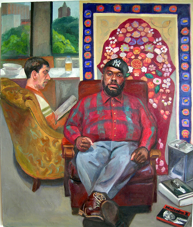 "Study Group, 1997, oil on canvas, 72 x 60""."