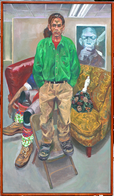 "Nelson, 1996, oil on canvas, 84 x 48""."