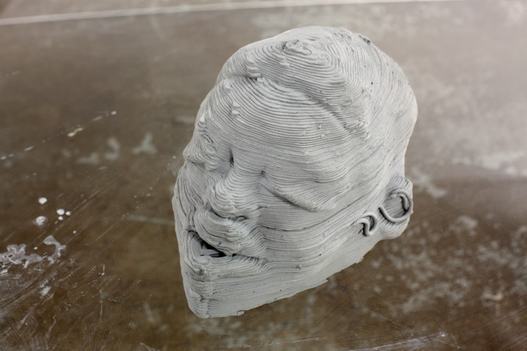 1.Printed (clay) mask / The Consequence of Platforms, 2016, Automotive clay, Dimensions variable