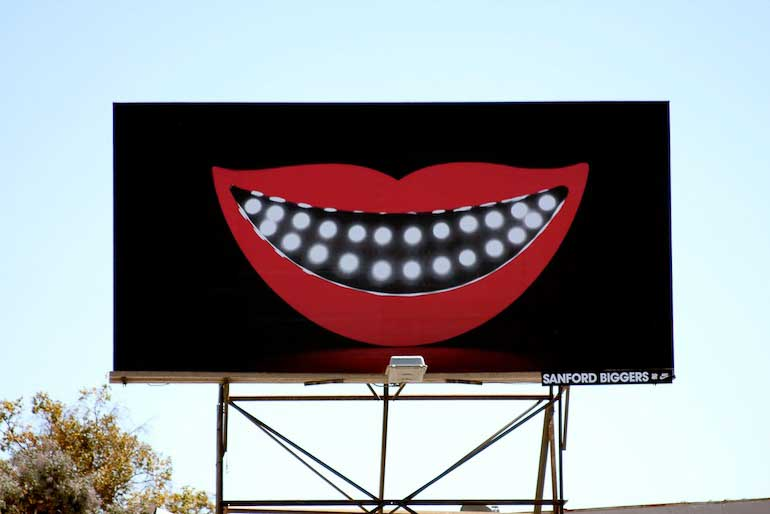Cheshire billarod, 2010, Nike Undefeated Billboard installed in Los Angeles, CA.