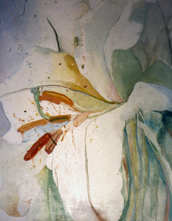 White Lily #2, 1973, oil on canvas, 48 in x 36 in