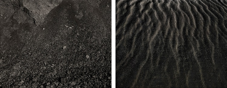 State Highway 321, San Juan County, New Mexico, 2014 (left) and Stukkshes, Iceland, 2012, Archival pigment prints, 17 ½ x 45 in. overall