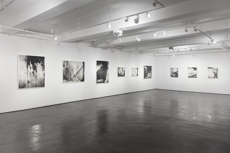 Pitch, 2017, partial view of exhibition at Benrubi Gallery, New York
