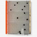 Night's Silent Veil, 2017, chain mail, brass, magnetite, plexiglass 20 x 14 x 3 in
