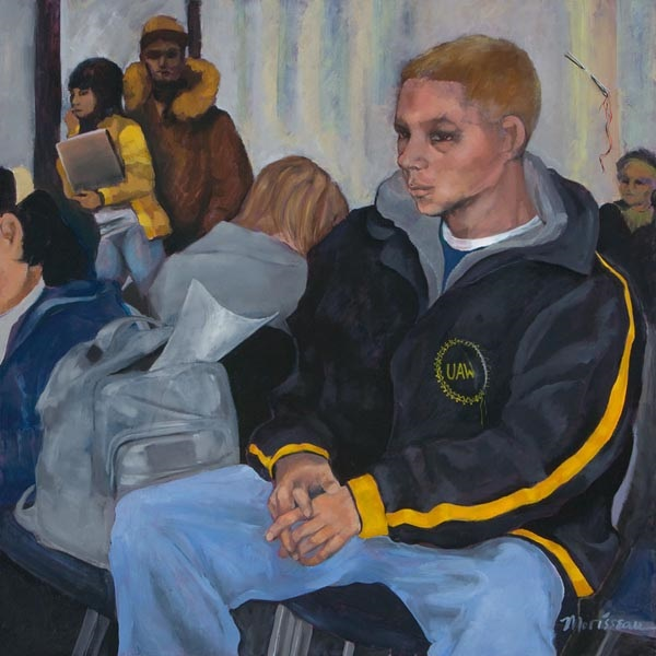 The Wait, 2008, oil on canvas, 36 x 36 in