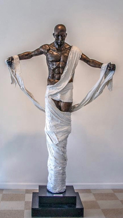 Cocoon Unleashed, 2014, clay, 7 ft 3 in x 5 ft.