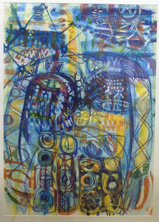 Aje, 2007, mixed media on paper,