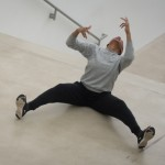 """cussing and praying, 2017, performance and installation at """"Shell and Glimpse: Two Days of Dance with AUNTS,"""" Pulitzer Arts Foundation, St. Louis, MO. Photography by Michael B. Thomas"""